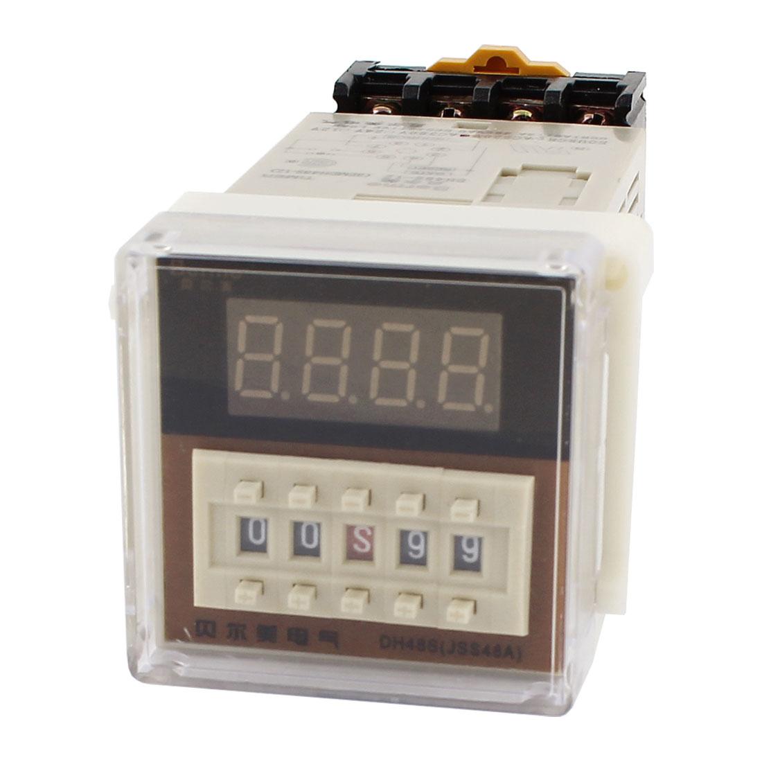 Dh48s-2Z Ac 110V 8 Pins Digital Timer Delay Relay 0.01S - 99H 99M W Socket