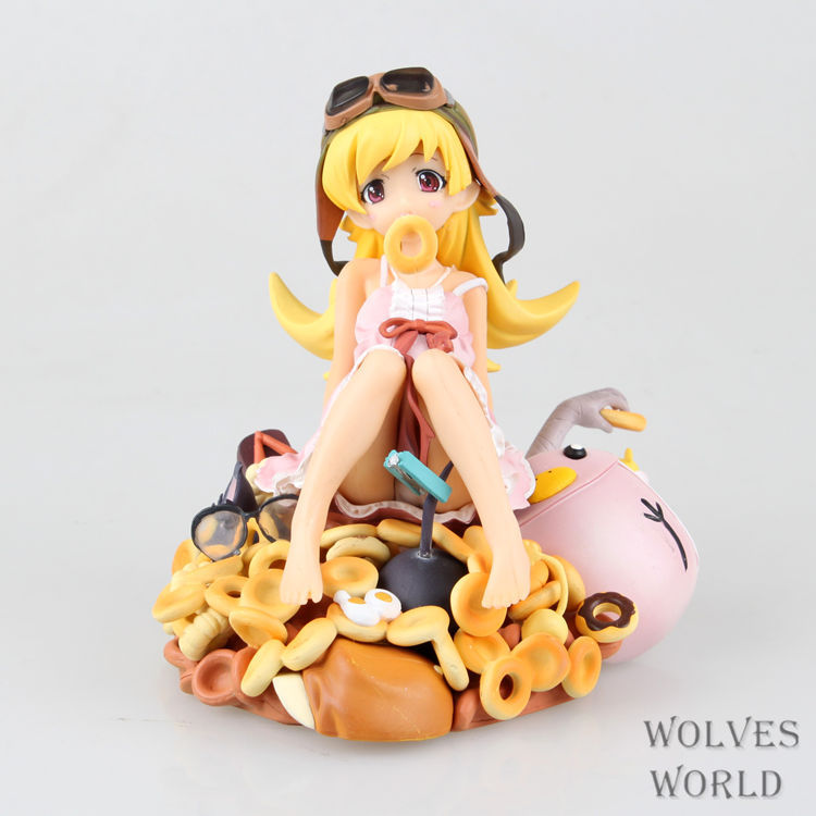 Anime Cartoon Monogatari Nisemonogatari Oshino Shinobu PVC Action Figure Collectible Model Toy 15CM high quality japanese amine fs good smile goodsmile bakemonogatari oshino shinobu 19cm pvc action figure model toys gift