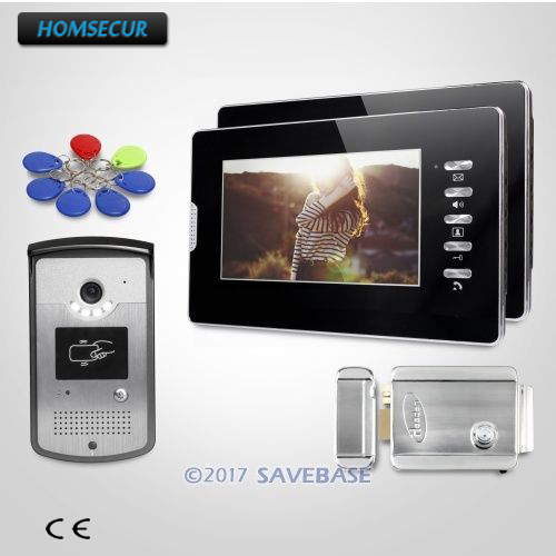 HOMSECUR 7 Hands-free Video Door Phone Intercom System with Intra-monitor Audio Intercom
