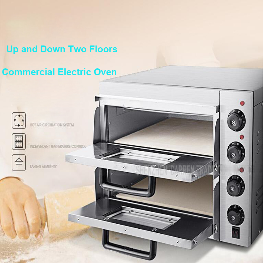 Marvelous 1PC Gedun Kx1 3000W 220V Double Electric Pizza Oven With Timer For  Commercial Use For Making Bread, Cake, Pizza In Food Processors From Home  Appliances On ...