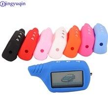 Jingyuqin пантера брелок для ключей силиконовый чехол Обложка для оригинальной звезды B9/B91/B6/B61/A91/A61/V7 ЖК-дисплей 2 Way машинный удаленный сигнал тревоги Системы