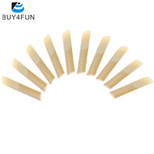 ammoon 10-pack Pieces Strength 2.5 Bamboo Reeds for Bb Clarinet Accessories