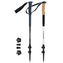 1 Pair trekking nordic walking poles aluminum telescopic trail hiking walking sticks cane with eva handle