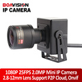 HD 1080 P Mini Cámara IP 2MP ONVIF 2.8-12mm 4x Manual Lente de Distancia Focal Variable de Zoom P2P Plug and Play Cámara de CCTV En Tiempo Real 25/30fps