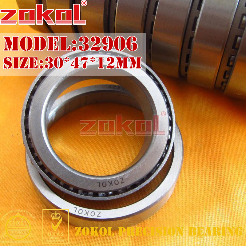 ZOKOL bearing 32906 2007906E Tapered Roller Bearing 30*47*12mm na4910 heavy duty needle roller bearing entity needle bearing with inner ring 4524910 size 50 72 22