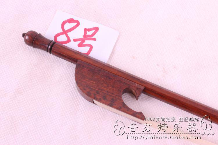 One pcs 8#  New 4/4 Violin Bow SnakeWood Baroque Style Violin Parts 8 4 1030788