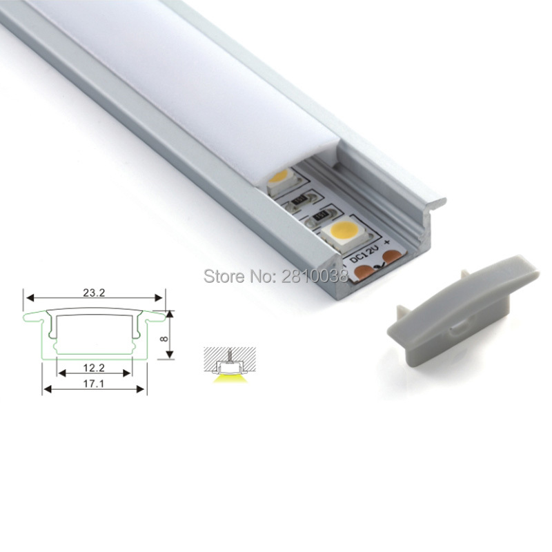 200 x 1M Sets/Lot cover line aluminum profile for led light and led T channel profile fo ...