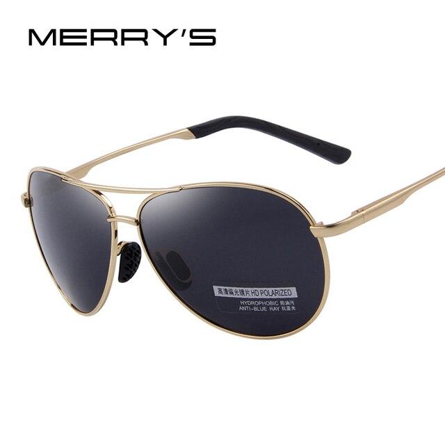 MERRY'S Top quality Sunglasses Men Polarized Brand Designer 2016 Fashion aviator Driving Sun Glasses Mens Sunglasses S'6012