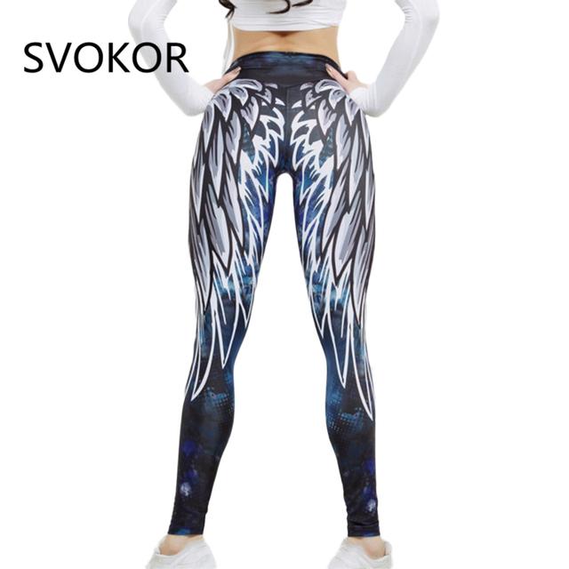 SVOKOR Harajuku 3D wing leggings for women 2018   push up sporting fitness legging   athleisure bodybuilding sexy women's pants