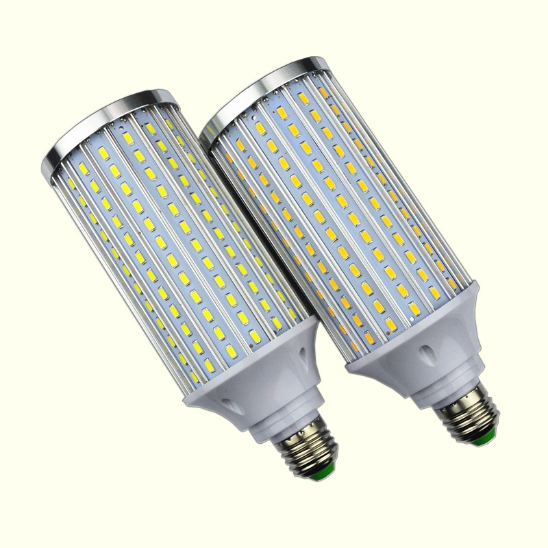 Lampada 12W <font><b>15W</b></font> 20W 30W 40W 50W 60W 80W <font><b>LED</b></font> lamp E27 E14 E40 B22 Corn Lighting light AC 110V or <font><b>220V</b></font> Aluminum Cooling Bulb 2Pcs image