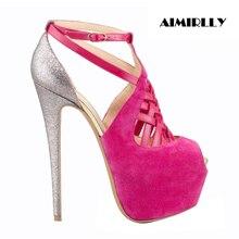 Women Shoes Peep Toe Ankle Strap Platform High Heel Sandals Shoes Large Size Customs Shoes Wholesale US Size 13 14 15 цена