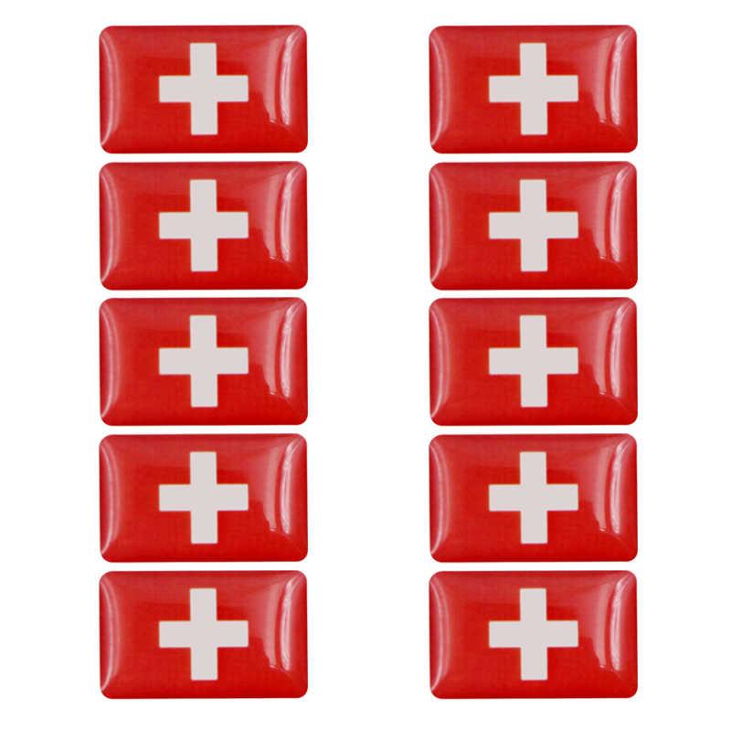Mobil Styling Dekoratif Swiss Lencana Hub Caps Roda Kemudi Case untuk Mazda Lexus Honda BMW Mobil Emblem Stiker Aksesoris