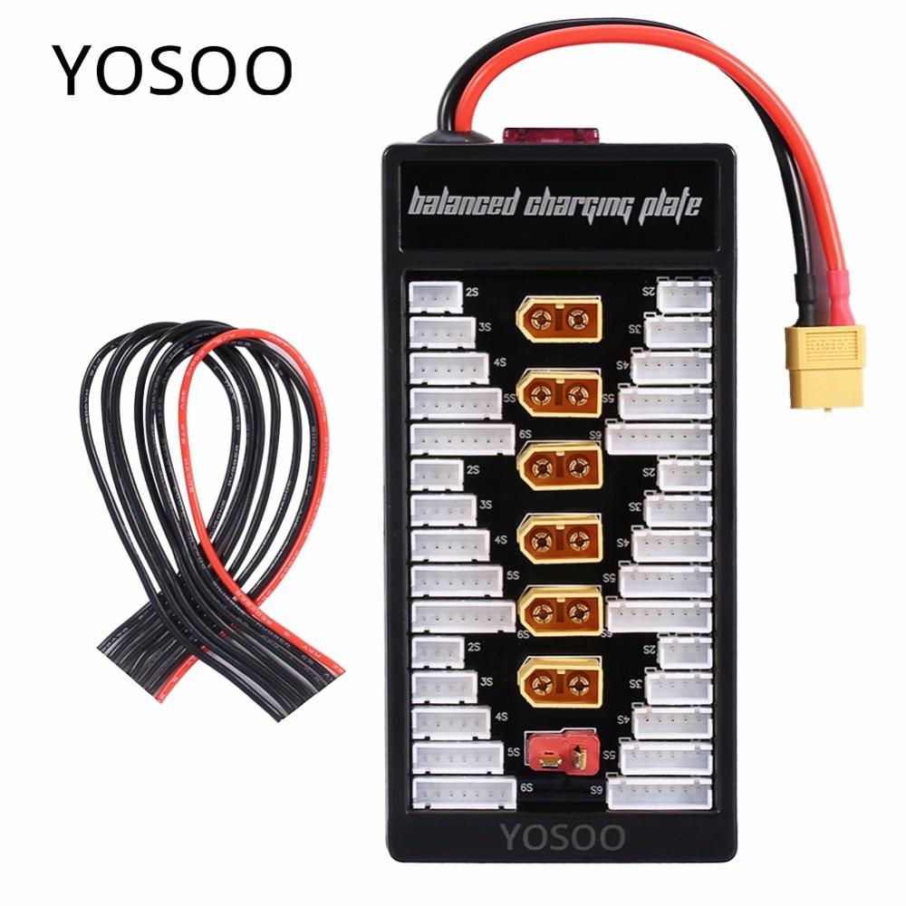 Lithium font b Batteries b font Charger Part 2S 6S Lipo Parallel Balanced Charging Board XT60