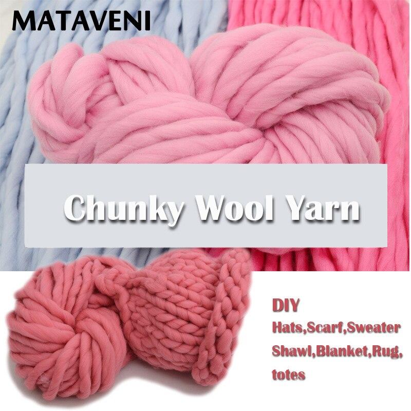 Islandia lana Hilados de lana grueso Super voluminoso brazo tejer ...