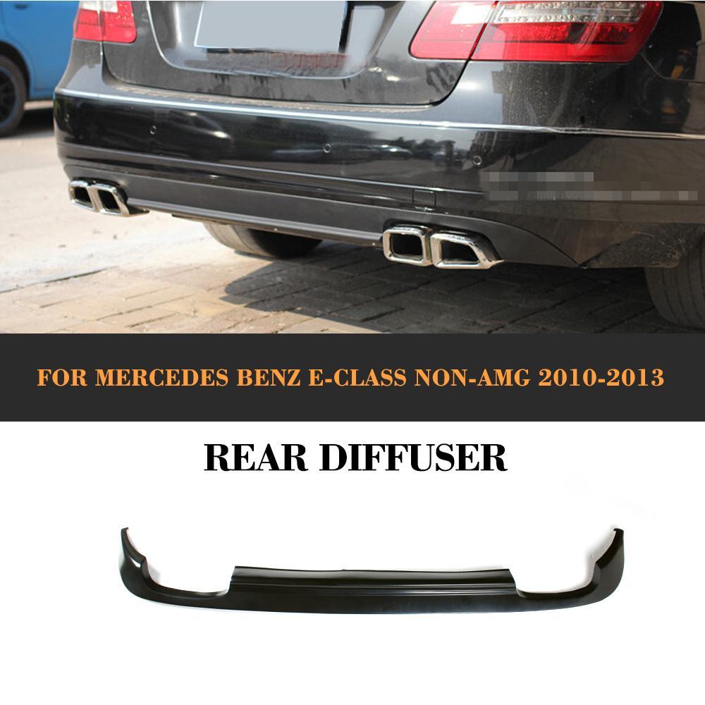 PU Rear Bumper Diffuser for Mercedes Benz W212 E200 E250 E350 E500 E550 standard bumper 2010 - 2013 not for AMG yandex w205 amg style carbon fiber rear spoiler for benz w205 c200 c250 c300 c350 4door 2015 2016 2017