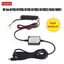 Original VIOFO 0801 A119 A119S A118 A118C A118C2 B40 Car Camera Hardwire Kit Mini USB Recorder