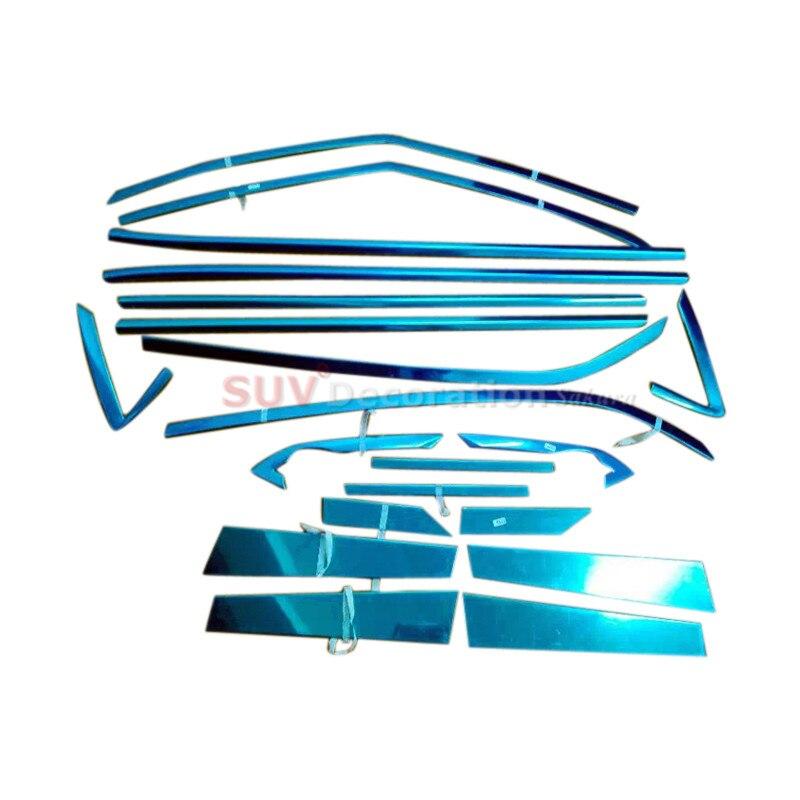 Accessori In Acciaio Inox Pieno Intera Finestra Pilastri Battitacco Assetto 20 pz Per Hyundai Creta Cantus ix25 2014-2017Accessori In Acciaio Inox Pieno Intera Finestra Pilastri Battitacco Assetto 20 pz Per Hyundai Creta Cantus ix25 2014-2017