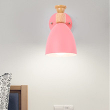 HAWBERRY LED modern minimalist interior lighting home pink sky blue small cute style girl bedroom bedside study wall lamp