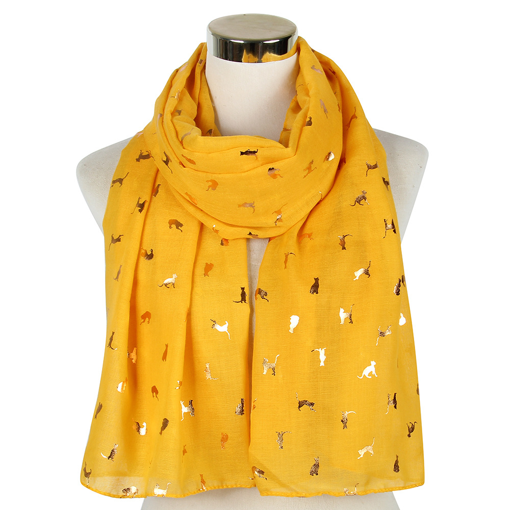 """Ladies Women/""""s Colourful Long Glitter  Cat Print Scarf Wraps Shawl Soft Scarves"""