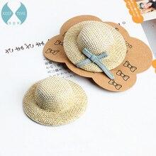 DIY аксессуары хлопчатобумажные вязаные шапки шляпа от солнца серьги аксессуары для волос шпилька креативный материал