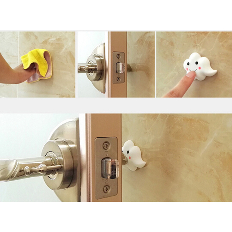 3Pcs Door Doorknob Back Wall Protector Child Safety Protection