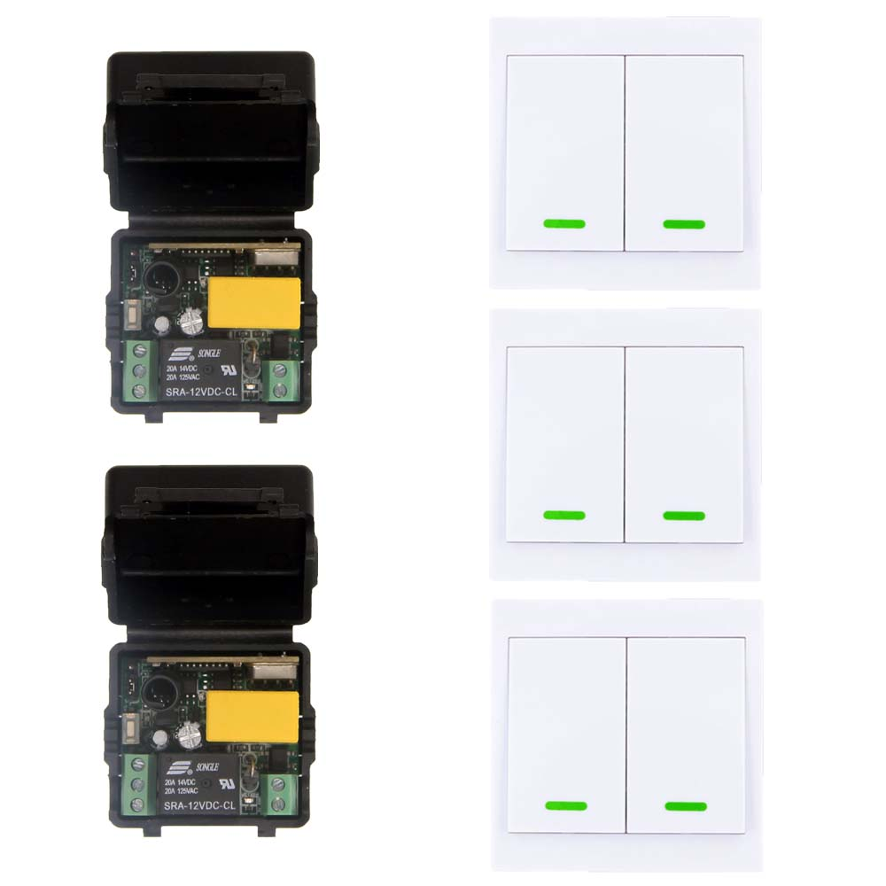 AC 220V 1CH RF Wireless Remote Control Switch System For Stairs Ceiling Light ,Mini Receiver + 2CH 86 Transmitter,315 / 433 wireless switch with controller 220v 2ch system wireless receiver