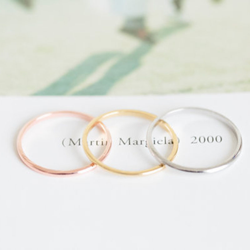 Fashion Rose Gold Fill SMOOTH Rings All Size For Thumb Ring First