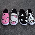 2016 New Children's Shoes Baby Boys And Girls Canvas Shoes Min Mouse Casual Fashion Sneakers KT Cat Monkey Single Peas Shoe