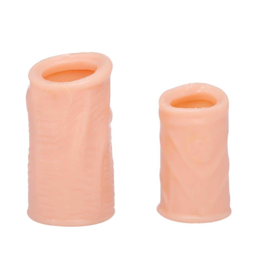 2 pièces Silicone anneaux de coq retarder l'éjaculation temps durable anneaux de pénis prépuce corrigé pénis manches adultes jouets sexuels pour les hommes