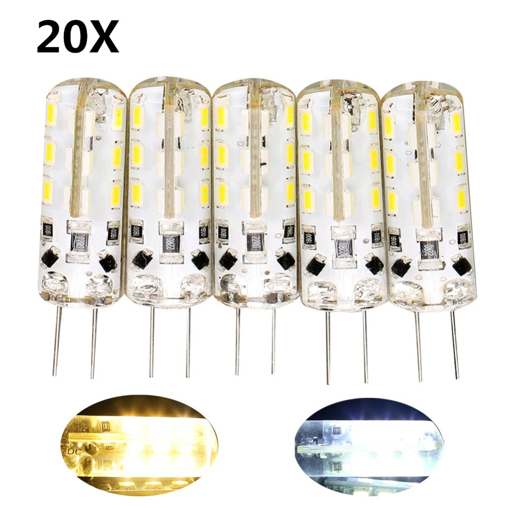 20X SMD 3014 3W 12V G4 LED Lamp Replace 30W halogen lamp 360 Beam Angle LED Bulb Crystal Chandelier Corn Light Led Bulbs Tubes 5w g9 45 x smd 3014 6500k silicone led corn lamp crystal spotlight bulb