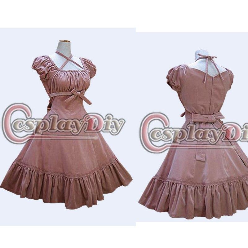 Free Shipping Short Puff Sleeve Red Lolita Dress Custom Made  Gothic Lolita Dress Cosplay Costume