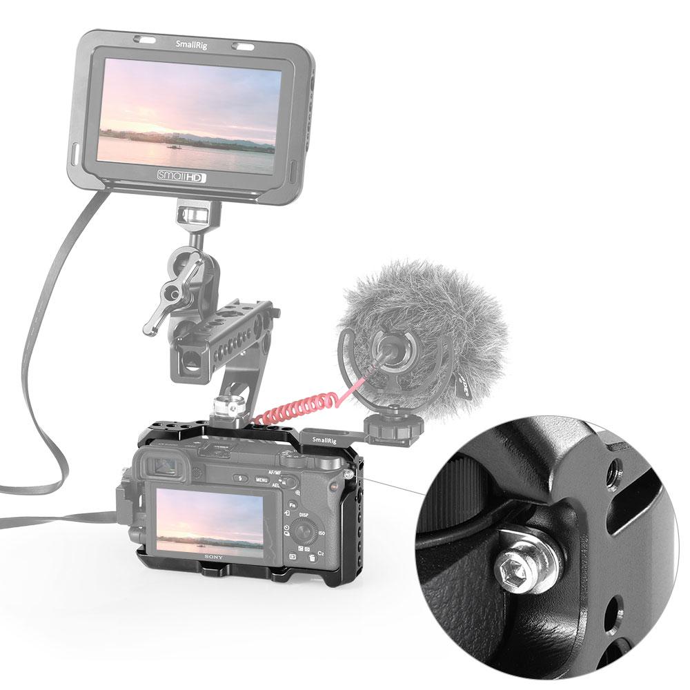 Cage de caméra SmallRig A6400 pour appareil photo Sony Alpha A6400 avec 1/4 3/8 trous de filetage pour Vlog bricolage Option 2310 - 6