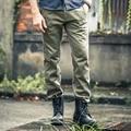 AK Marca CLUB de Pantalones Pantalones de Estilo Militar de La Vendimia 100% Algodón Tejido Elástico Micro Pantalones Casuales Para Hombre Pantalones Largos 1512057
