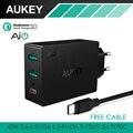 AUKEY USB C Carga Rápida 3.0 & AiPower 3-Port Usb Rápido carregador de parede para iphone 7 samsung lg g5, htc 10, nexus 6 p & mais inteligente telefone