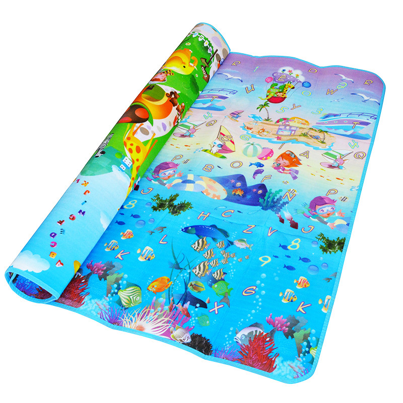 Double-Sided Baby Crawling Puzzle Play Mat, Blue Ocean EVA Foam Kids Gift Toy Children Carpet Outdoor Play Soft Floor Gym Rug