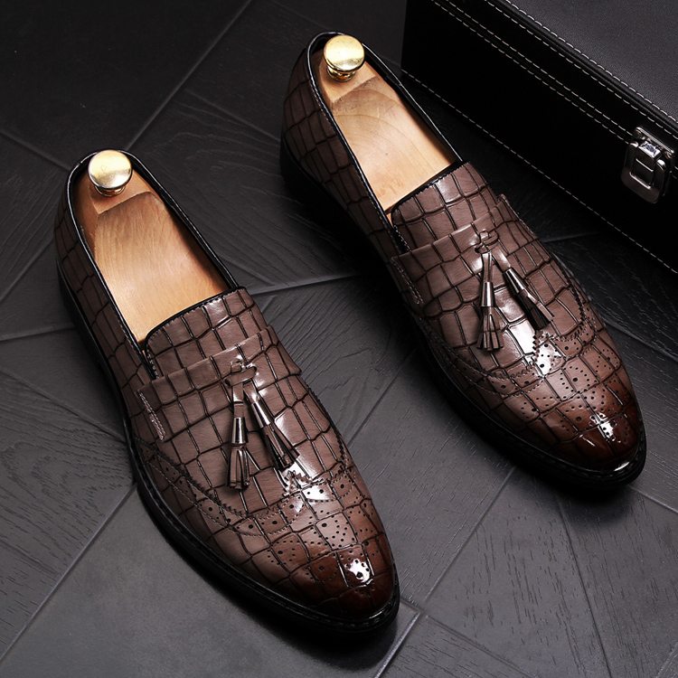 8c2f55d4 Cheap Hombres moda boda fiesta charol borla zapatos tallado bullock oxfords  zapato slip on brogue mocasines