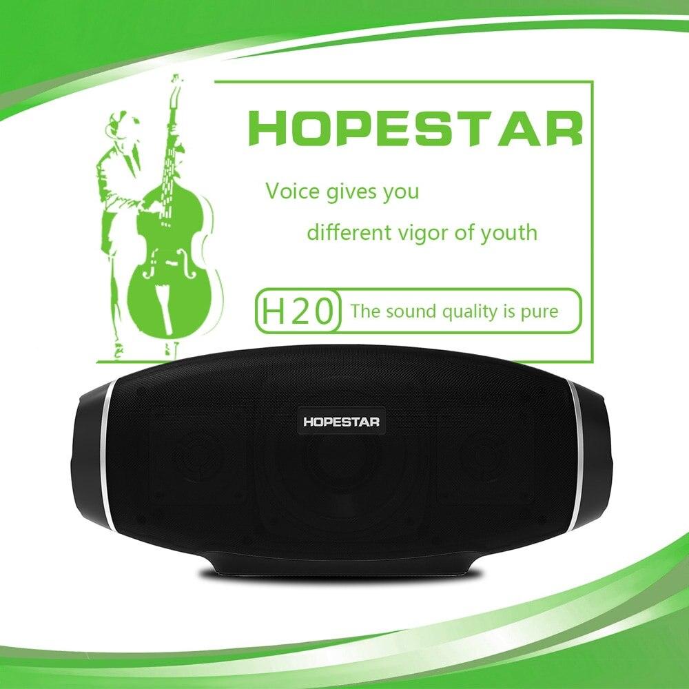 HOPESTAR H20 30 W haut-parleur Bluetooth sans fil colonne Portable haut-parleur Mini étanche Super basse stéréo extérieur Subwoofer TF carte