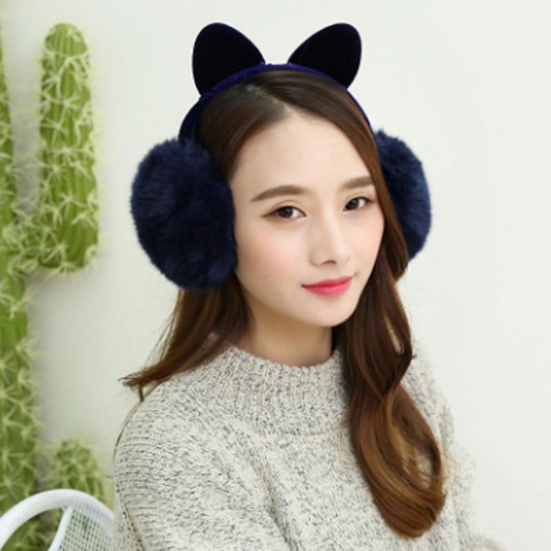 Rabbit Fur Women Earmuffs