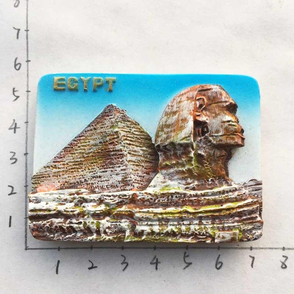 Ägypten Magnetische Kühlschrank Aufkleber Chephren Pyramide Kleine Geschenke 24774 Giza Tourist Souvenirs Große Sphinx