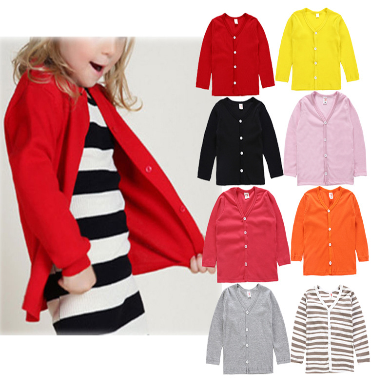 Cheap Sale 2019 Autumn Spring Cotton Top Baby Children's Clothing Boys Girls Knitted Cardigan Sweater Kids Spring Wear New(China)
