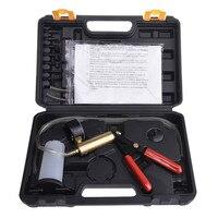 Car Auto Hand Held Type Vacuum Pump Brake Bleed Adaptors Fluid Oil Reservoir Tester Kit