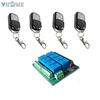 VHOME 1pcs 433MHZ 12V 8CH Wireless Receiver And 433MHZ Remote Control For Lights Electric Curtains Garage