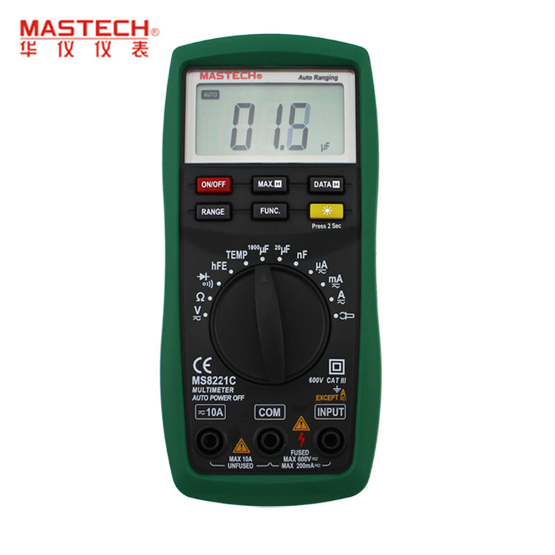 Mastech MS8221C digital multimeter professional multimeters Auto Manual Ranging DMM Temperature Capacitance hFE Test new ms8221c digital multimeter auto manual ranging dmm temperature capacitance hfe tester