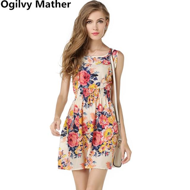 ff7311c5cd3 Летнее женское платье 2018 женское с принтом повседневное женское стильное  модное офисное женское платье дешевая богемная
