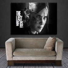 Modern Canvas Printed 1 Piece Game The Last Of Us Ellie Playing the Guitar Picture Living Room Home Decorative Wall Artwork