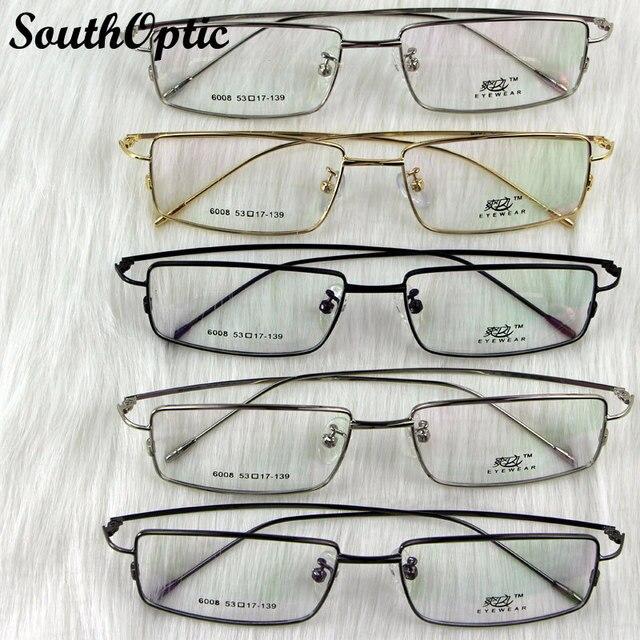Full Frame Super Thin Titanium Alike Glasses Unisex Comfortable Learned Glasses Four Colors Glasses Prescription Spectacles 6008