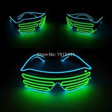 24f56a8af9a03 Chegada nova Casa Presente Do Partido acender Óculos Louco de Iluminação Do  Feriado de Natal decor Neon Levou Óculos com DC-3V I..