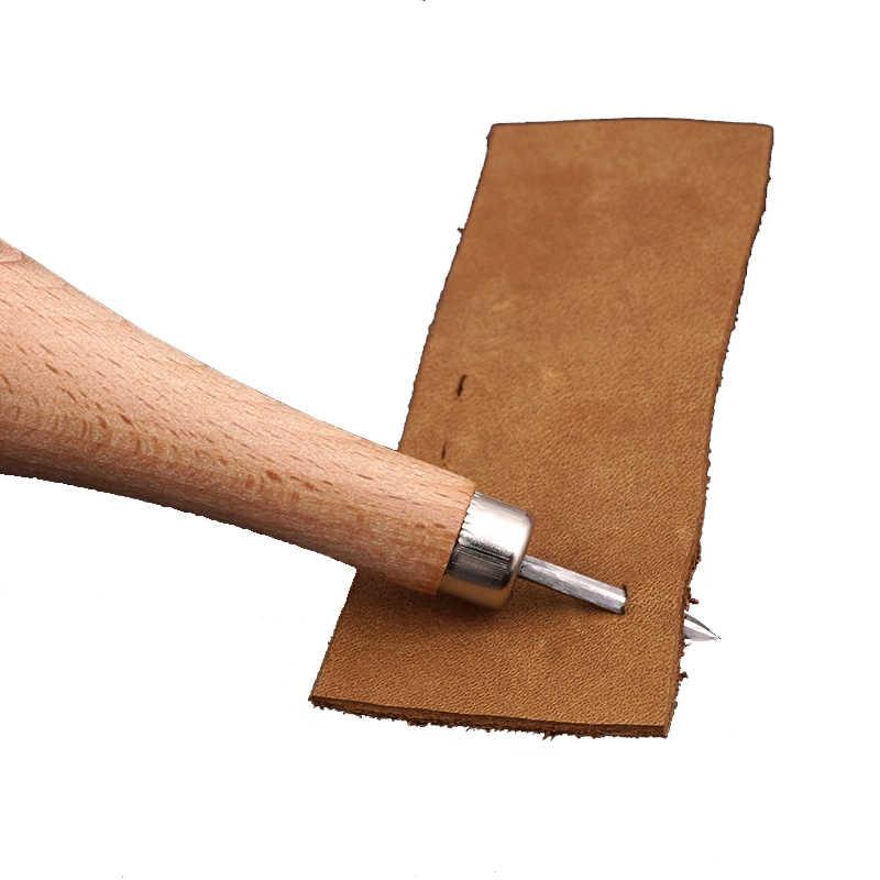 Lmdz artesanato de couro, 1 peça de diamante em madeira estampa de diamante 3mm 4mm 5-6mm, faça você mesmo ferramenta de perfurar couro para costura