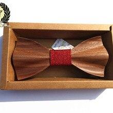 Наборы свадебных галстуков галстук-бабочка креативный деревянный галстук Забавный ход для отдыха деревянный галстук-бабочка s галстук бабочка XK096