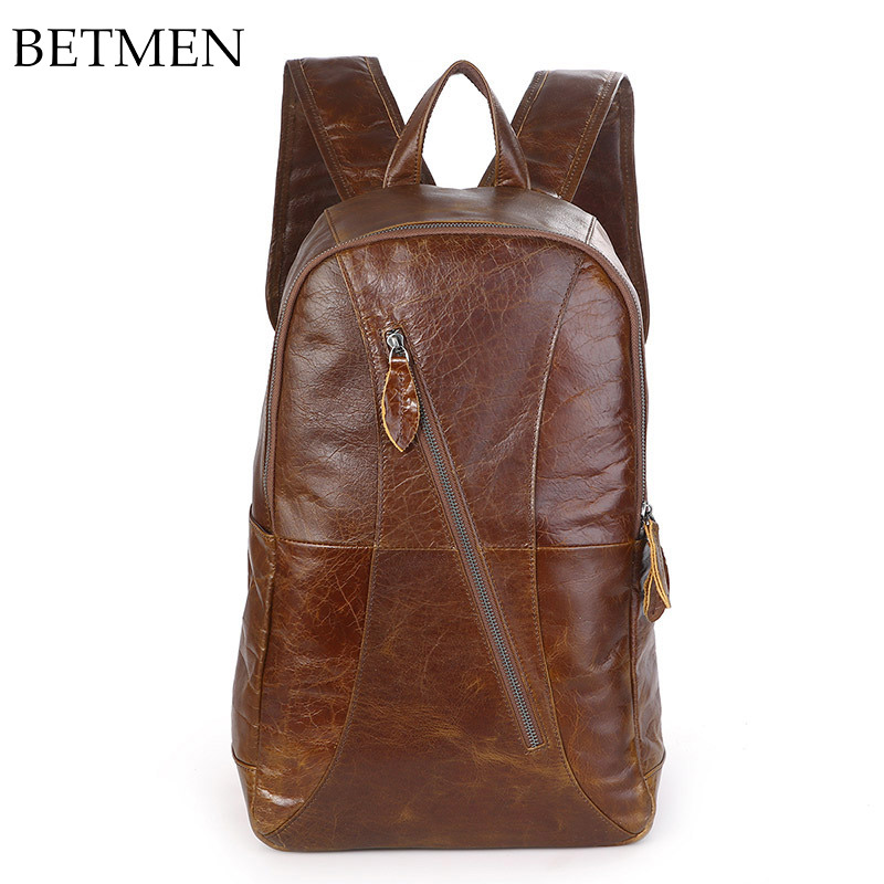 BETMEN Genuine Leather Backpack Men Backpack Luxury Vintage Large Capacity Rucksacks girls evening dress autumn long sleeved lace princess dresses children clothes 2 16y baby girl costume kids birthday party dress